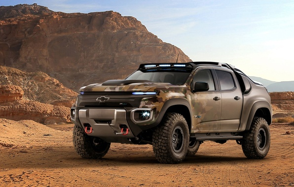 Picture car, Chevrolet, wallpaper, desert, power, sand, truck, automobiles, strong, official wallpaper, technology, camouflage, suna, bold …