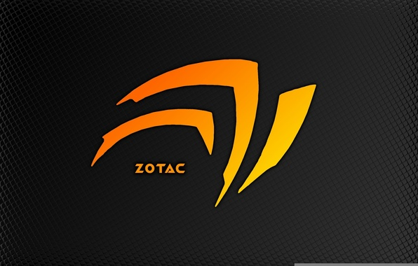Picture orange, minimalism, Nvidia, Corporation, graphics card, zotak