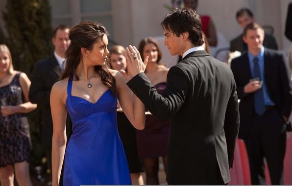 Picture dance, the vampire diaries, Nina Dobrev, nina dobrev, Elena, Damon, ian somerhalder, the vampire diaries, …