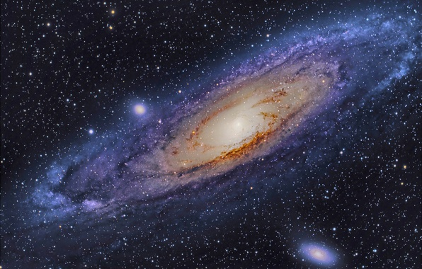 Picture space, stars, Galaxy, Andromeda
