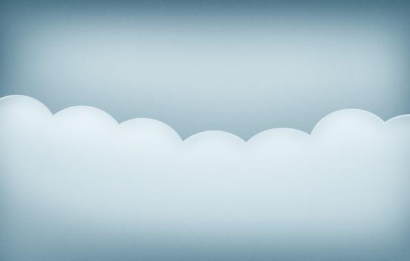 Picture wave, minimalism, cloud