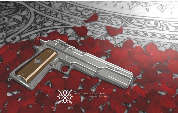 Picture gun, weapons, petals, Vampire Knight