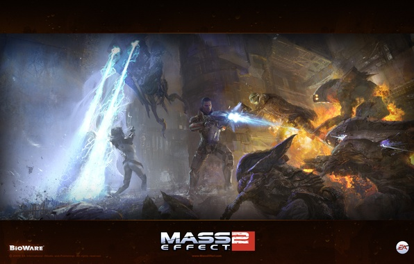 Picture mass effect, sci-fi, rpg, aliens