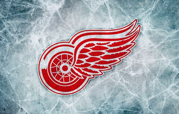 Picture Ice, Logo, Detroit, NHL, NHL, Hockey, Red Wings