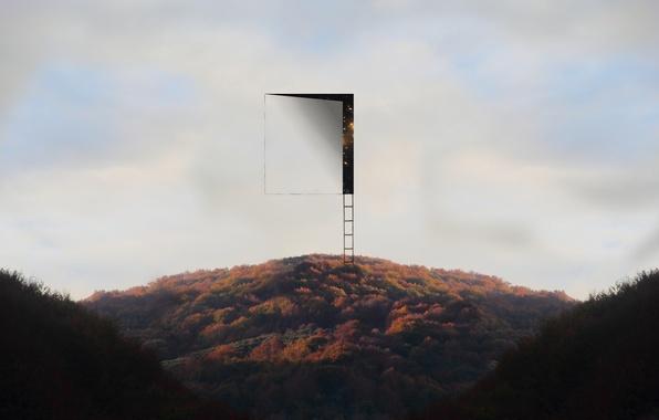 Picture the sky, the door, ladder