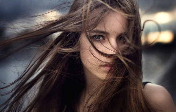 Picture the wind, hair, portrait, Russia, Anastasia, Nastya, George Chernyadev