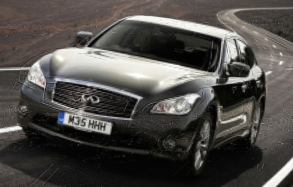 Picture road, black, Infiniti, Infiniti, sedan, the front, M35h