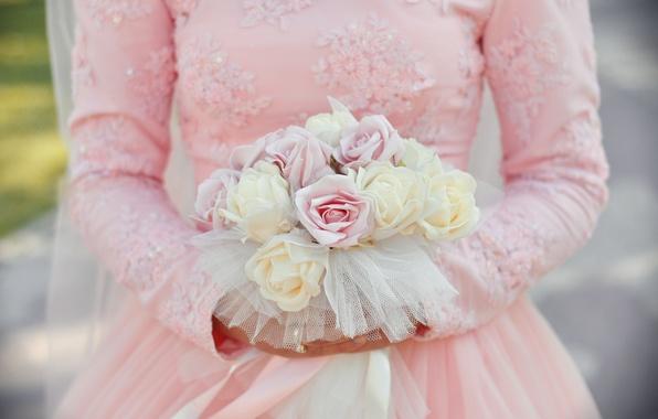 Picture flowers, bouquet, dress