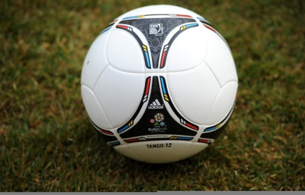 Picture grass, football, the ball, icon, logo, logo, emblem, Adidas, Adidas, ball, euro 2012, Euro 2012, …