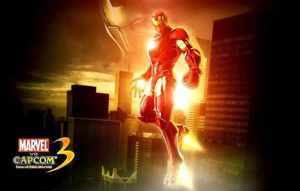Picture fighting game, iron man, marvel, iron man, capcom