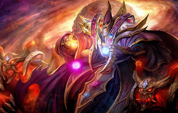 Picture concentration, art, MAG, helmet, Dota 2, Carl, Invoker, wei-zi