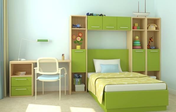 Picture design, photo, bed, chairs, interior, children's