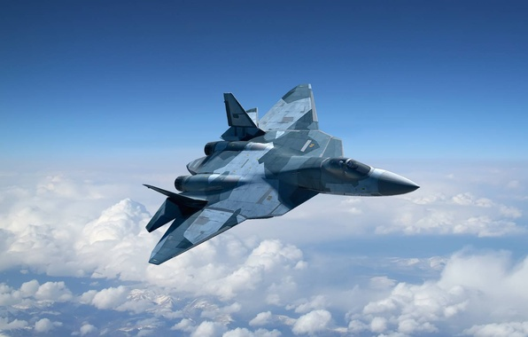Picture figure, T-50, PAK FA, Sukhoi, The Russian air force, Russian multi-purpose fighter of the fifth …