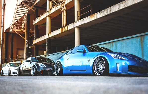 Picture nissan, Parking, 350z, Nissan, silvia, s13, parking, Sylvia