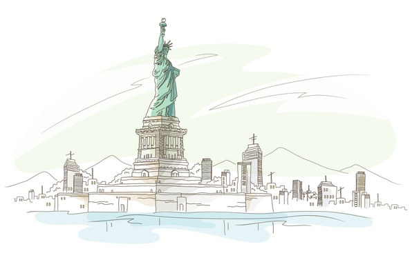 Picture America, the statue of liberty, new York