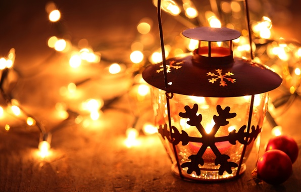 Picture winter, light, lights, toys, candle, New Year, Christmas, lantern, garland, Christmas, snowflake, candle holder, bokeh, …