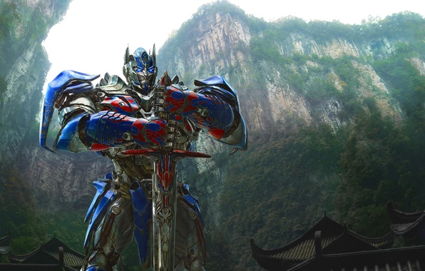 Picture Grand, Action, Red, Nature, Sky, Rock, Wood, Blue, Robot, the, Color, Warrior, Wallpaper, Optimus Prime, …
