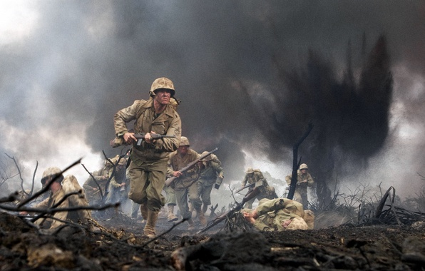 Picture War, The explosion, Soldiers, The Pacific, The corpse