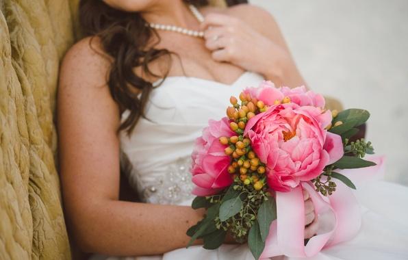 Picture flowers, bouquet, the bride