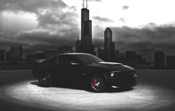 Picture car, city, mustang, Mustang, wallpaper, America, ford, shelby, black, Ford, auto, landscape, muscle, blur, american, …