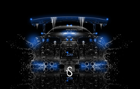 Photo Wallpaper Water, Blue, Crystal, El Tony Cars, Water, Supra,