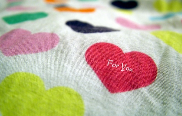 Picture love, colored, hearts, blanket