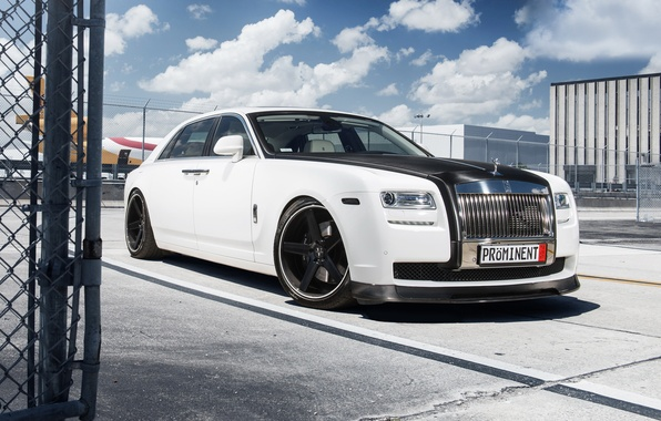 Picture tuning, white, Rolls Royce, Ghost, tuning