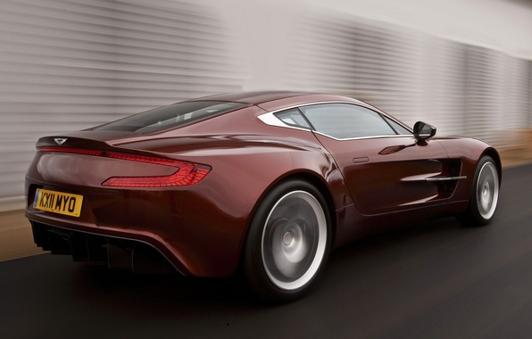 Picture Aston Martin, Red, Road, Machine, Movement, Machine, Red, Car, Car, Cars, Aston Martin, Cars, One-77, …