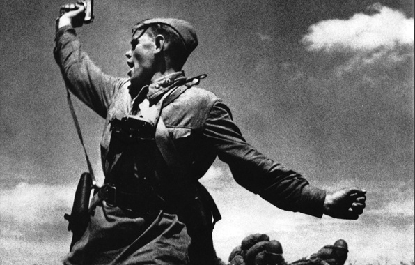 Picture joy, face, USSR, soldiers, heroes, Victory, Soviet soldiers