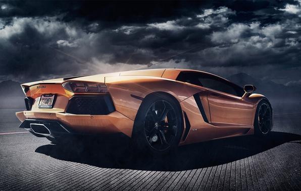 Picture Lamborghini, rear, orange, LP700-4, Aventador, Alex Murtaza, Shift-S3ctor