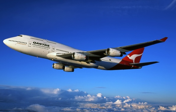 Picture Liner, Boeing, Boeing, The, 747, Qantas, Australian, Airlines, Airlines, Australian