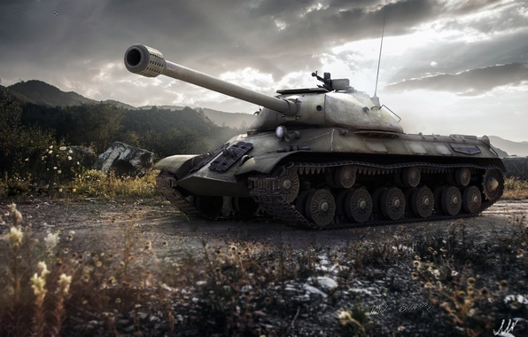 Picture tank, USSR, USSR, tanks, WoT, World of tanks, tank, World of Tanks, tanks, Is-3, Wargaming.Net, …