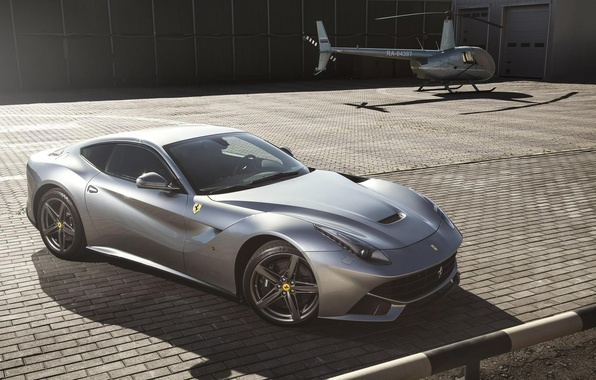 Picture Helicopter, Ferrari, Supercar, Helicopter, Supercar, Berlinetta, F12
