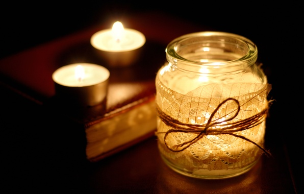 Picture background, fire, Wallpaper, candles, rope, Bank, book, different, wallpapers, candle, jar