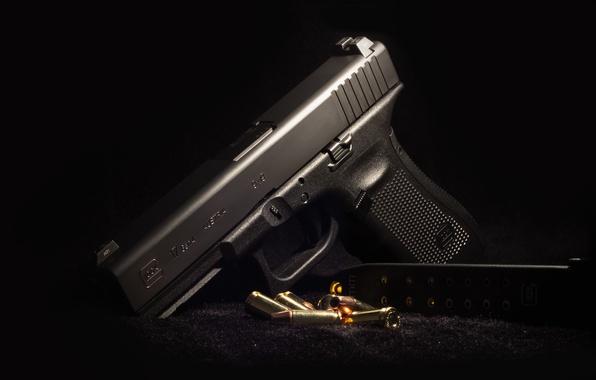 Picture background, Austria, cartridges, Glock 17, self-loading pistol