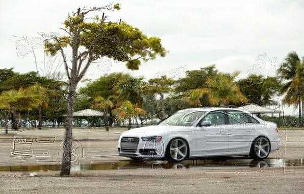 Picture Audi, Audi, white, Vossen