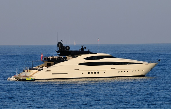 Picture sea, yacht, white, yacht, the ocean.