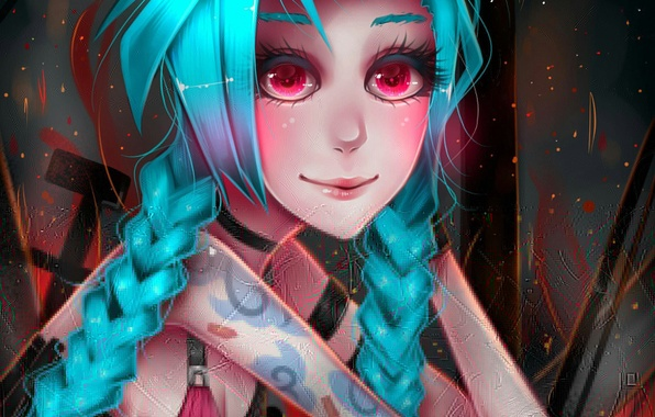 Wallpaper art, league of legends, Jinx, Jinx images for desktop, section игры  download