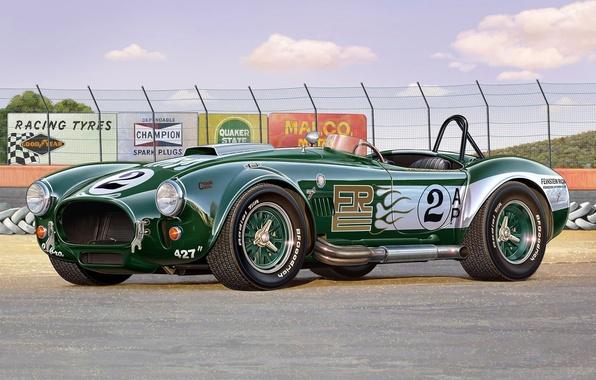 Picture machine, time, model, art, car, shelby, cobra, Cobra, British, miles, 427, racing, model., 100, modification, …