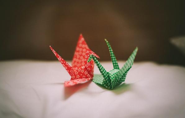 Picture paper, origami, cranes