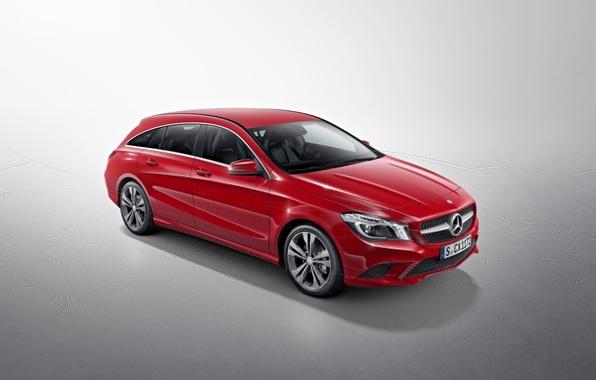 Picture red, photo, Mercedes-Benz, car, metallic, Shooting Brake, CLA