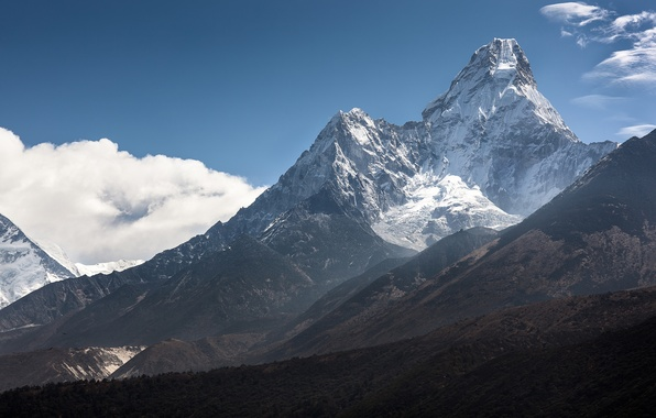 Picture clouds, snow, mountains, The Himalayas, AMA Dablam, Ama Dablam