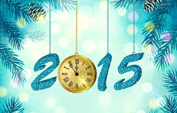 Picture creative, work, holiday, watch, new year, fantasy, art, 2015