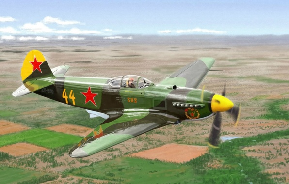 Picture height, flight, Military, The plane, The Yak-3