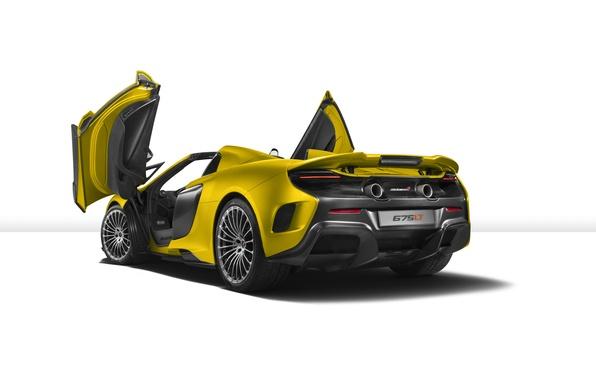 Picture McLaren, white background, supercar, McLaren, Spider, 675LT