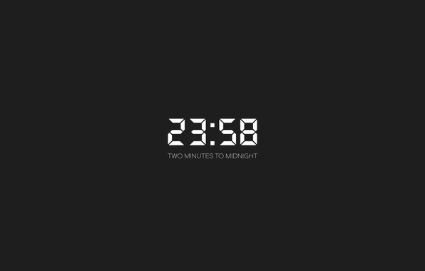 Picture white, time, digital clock, digits
