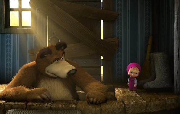 Picture cartoon, Masha and the bear, animation
