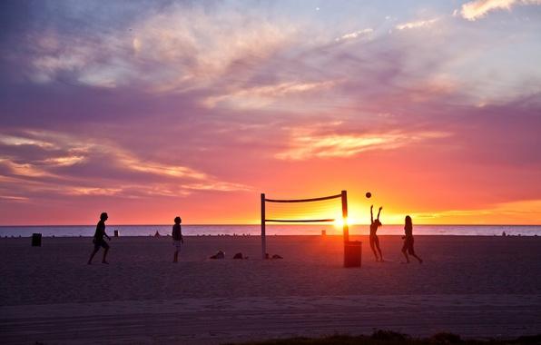 Picture summer, california, beach, ocean, sunset, usa, wave, los angeles, venice beach