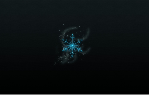 Picture the dark background, mesh, sparks, snowflake