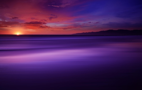 Picture color, the sun, california, the Pacific ocean, The Power Of Purple